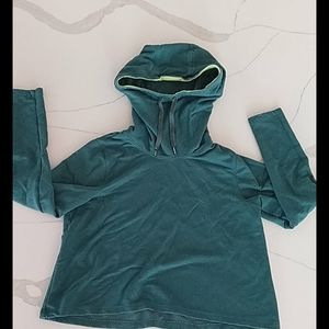 A green Under armour hoodie